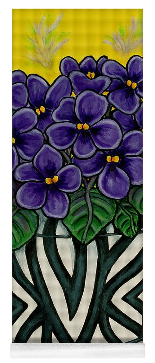 Violets Yoga Mat featuring the painting African Queen by Lisa Lorenz
