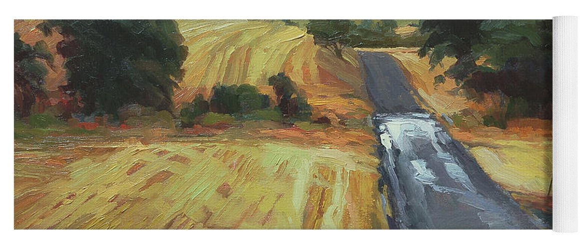 Country Yoga Mat featuring the painting After The Harvest Rain by Steve Henderson