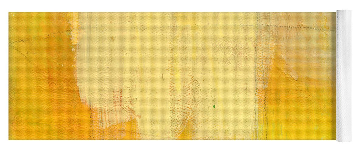 Abstract Yoga Mat featuring the painting Afternoon Sun -Large by Linda Woods
