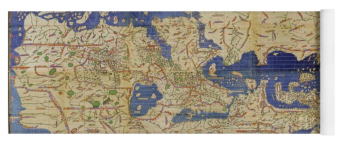 Al idrisi world map 1154 yoga mat for sale by spl and photo researchers 1100s yoga mat featuring the photograph al idrisi world map 1154 by spl and photo researchers gumiabroncs Gallery