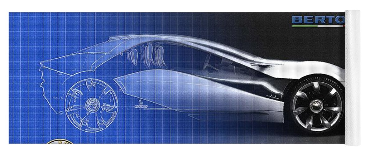 Wheels Of Fortune By Serge Averbukh Yoga Mat featuring the photograph Alfa Romeo Bertone Pandion Concept by Serge Averbukh