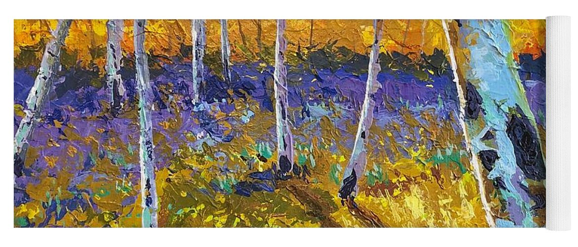 Aspen Yoga Mat featuring the painting All In The Golden Afternoon by Hunter Jay