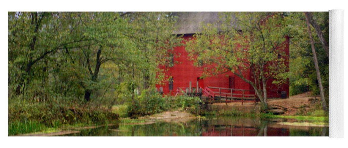 Alley Spring Yoga Mat featuring the photograph Allsy Sprng Mill 2 by Marty Koch