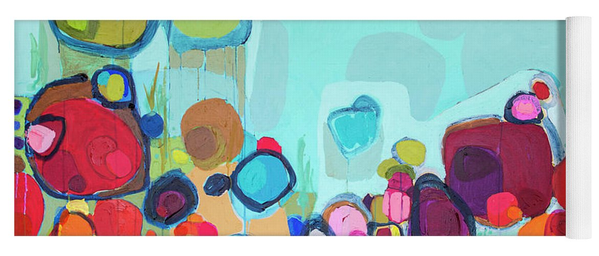 Abstract Yoga Mat featuring the painting Always Will Be by Claire Desjardins