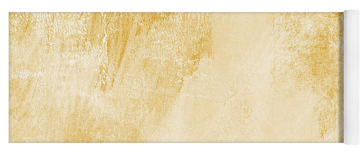 Abstract Yoga Mat featuring the painting Amber Waves by Linda Woods