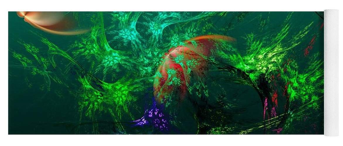 Fine Art Yoga Mat featuring the digital art An Octopus's Garden by David Lane