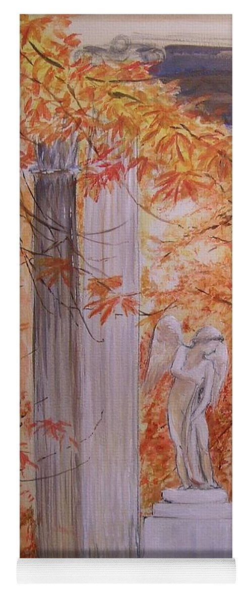 Angel Yoga Mat featuring the painting Ange Petit Trianon Versailles by Lizzy Forrester