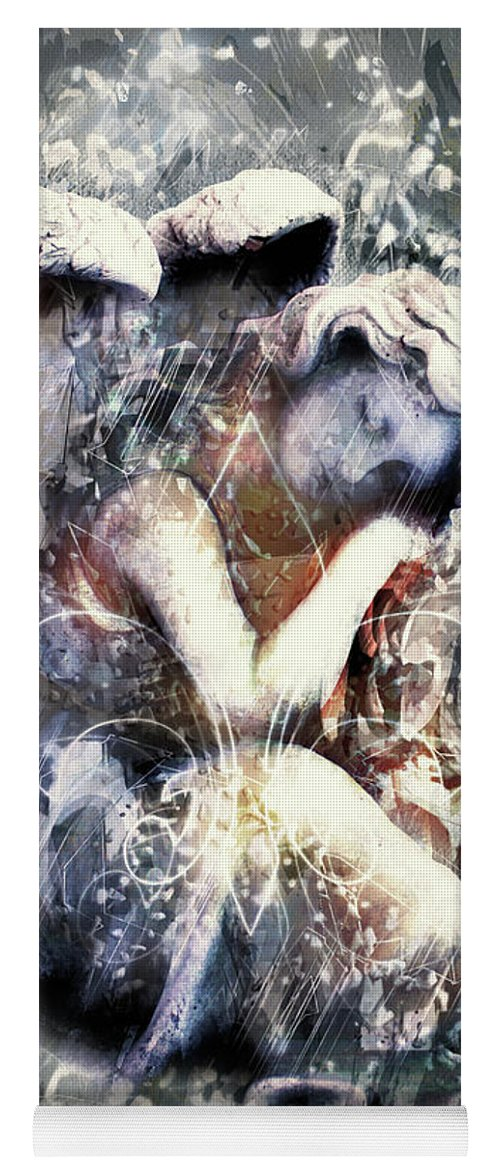 Angel Of Your Dreams Yoga Mat featuring the digital art Angel Of Your Dreams by Georgiana Romanovna