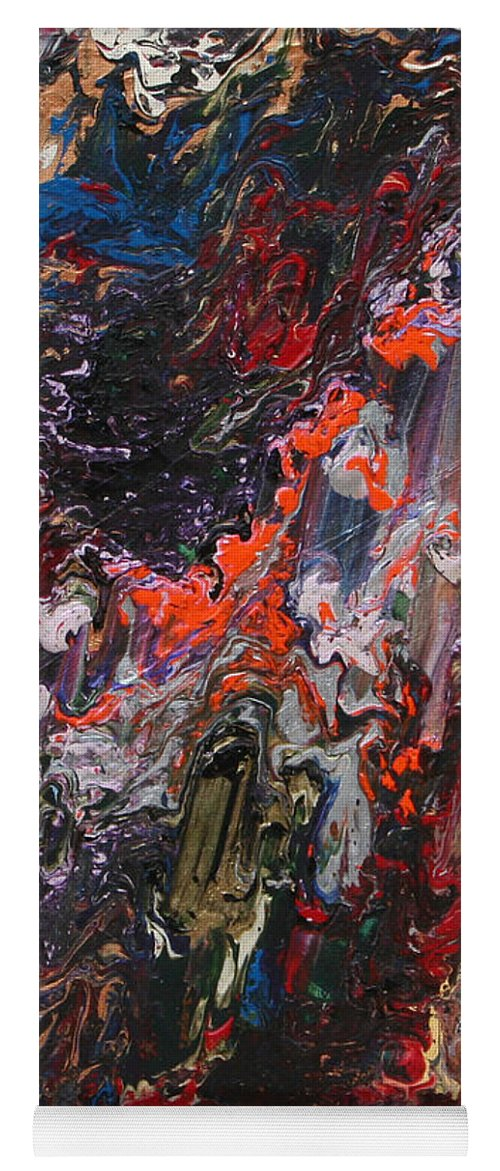Fusionart Yoga Mat featuring the painting Angel Rising by Ralph White