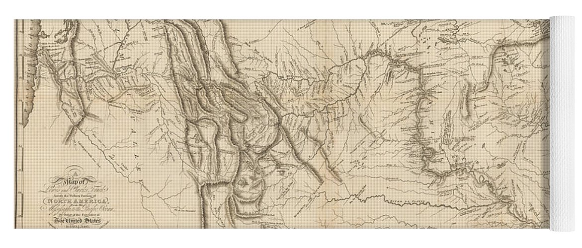 Map Of America Lewis And Clark.Antique Map Lewis And Clark S Track Across North America Yoga Mat