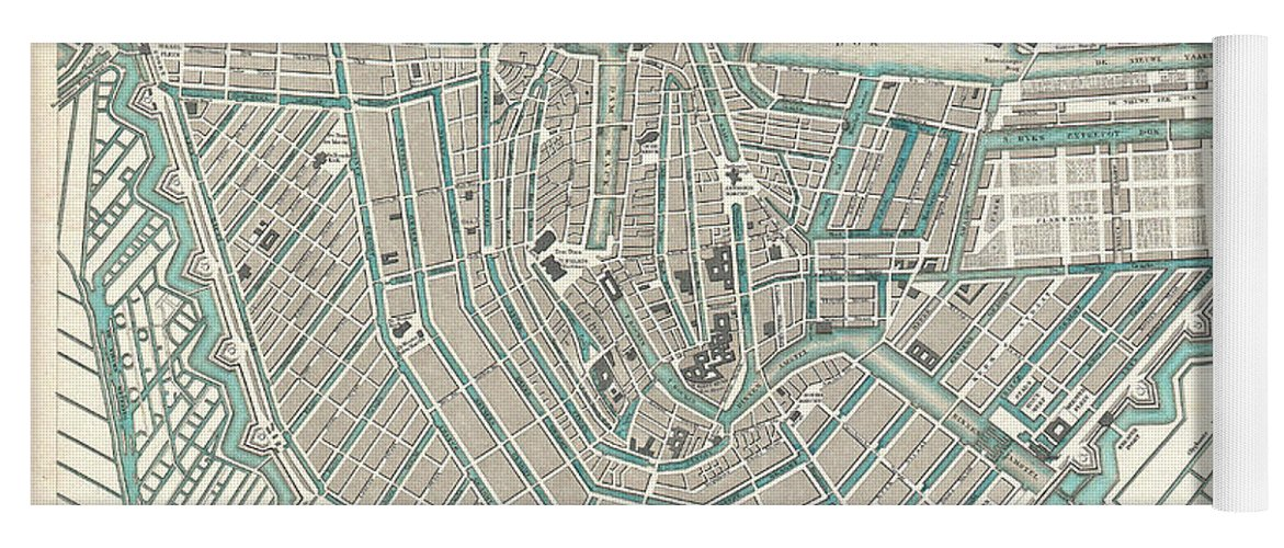 Antique Maps Old Cartographic Maps Antique Map Of Amsterdam Yoga - Amsterdam old map