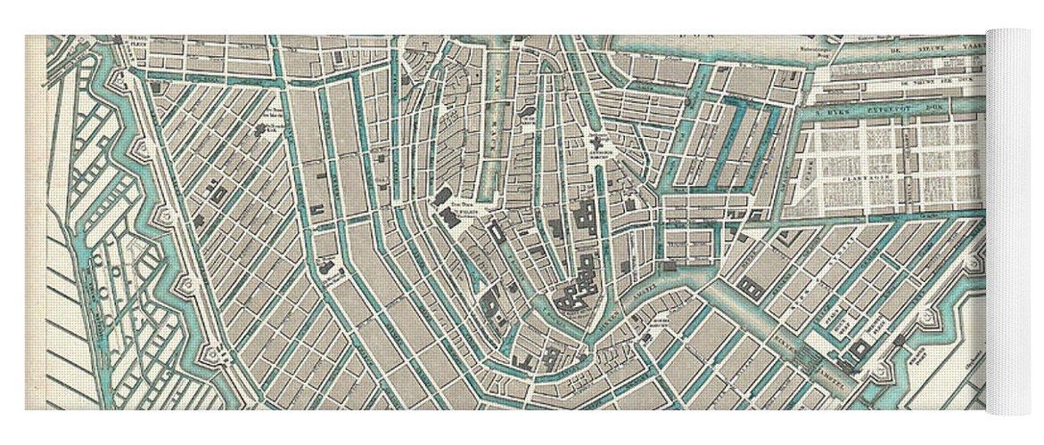 Antique Maps Old Cartographic Maps Antique Map Of Amsterdam Yoga - Antique maps amsterdam