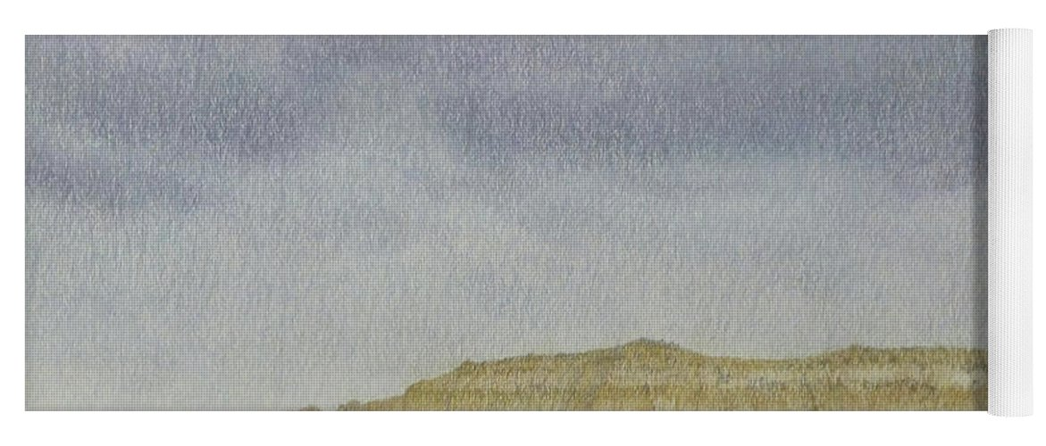 North Dakota Yoga Mat featuring the pastel April In The Badlands by Cris Fulton