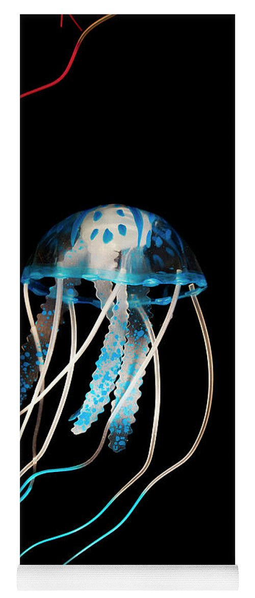 Jelly Yoga Mat featuring the photograph Aquarium Blue by Jorgo Photography - Wall Art Gallery