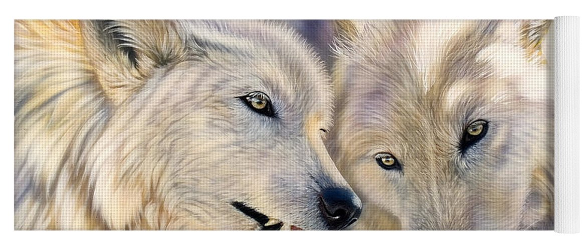 Acrylics Yoga Mat featuring the painting Arctic Pair by Sandi Baker