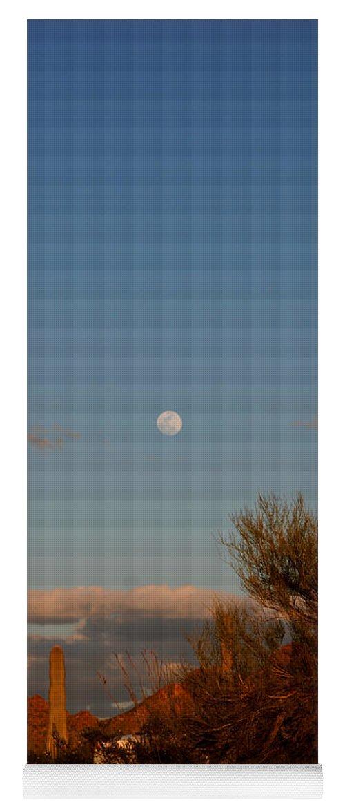 Arizona Yoga Mat featuring the photograph Arizona Moon II by Susanne Van Hulst