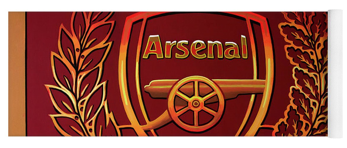 Arsenal Yoga Mat featuring the painting Arsenal London Painting by Paul Meijering