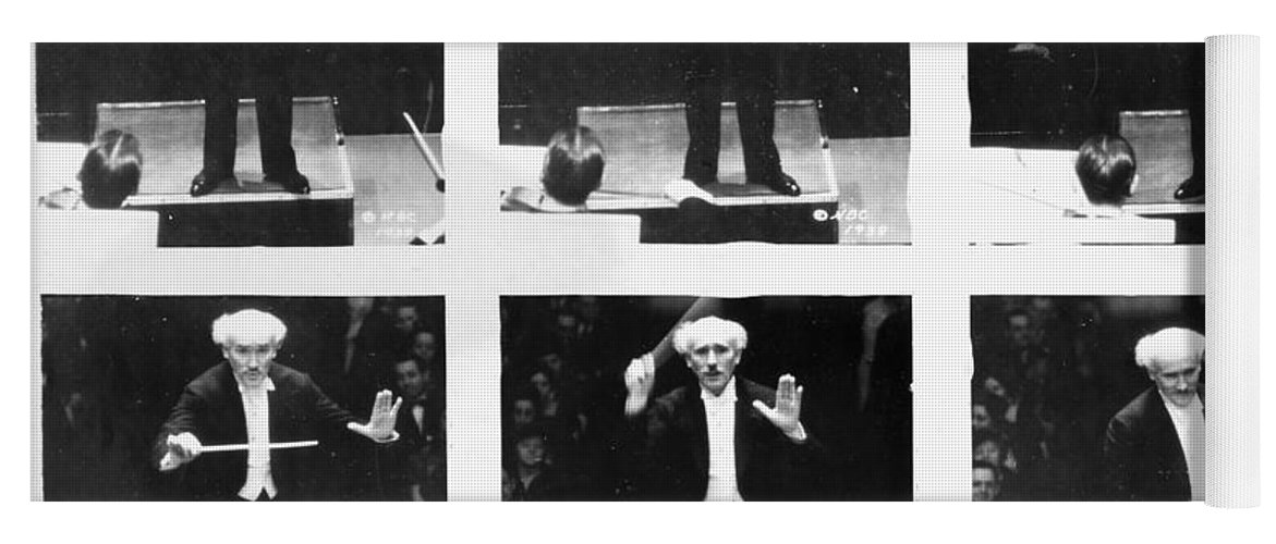 1938 Yoga Mat featuring the photograph Arturo Toscanini by Granger