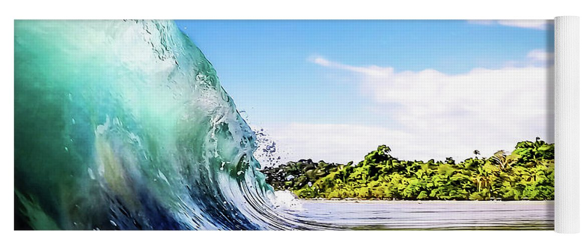 Wave Yoga Mat featuring the photograph Tropical Wave by Nicklas Gustafsson