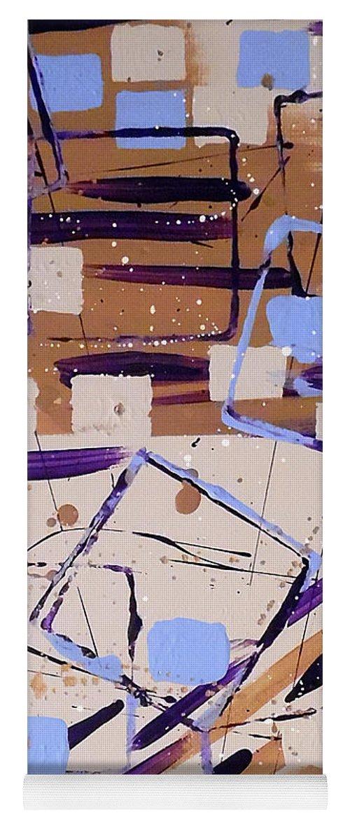 Geometric Yoga Mat featuring the painting Painters Block by Jilian Cramb - AMothersFineArt