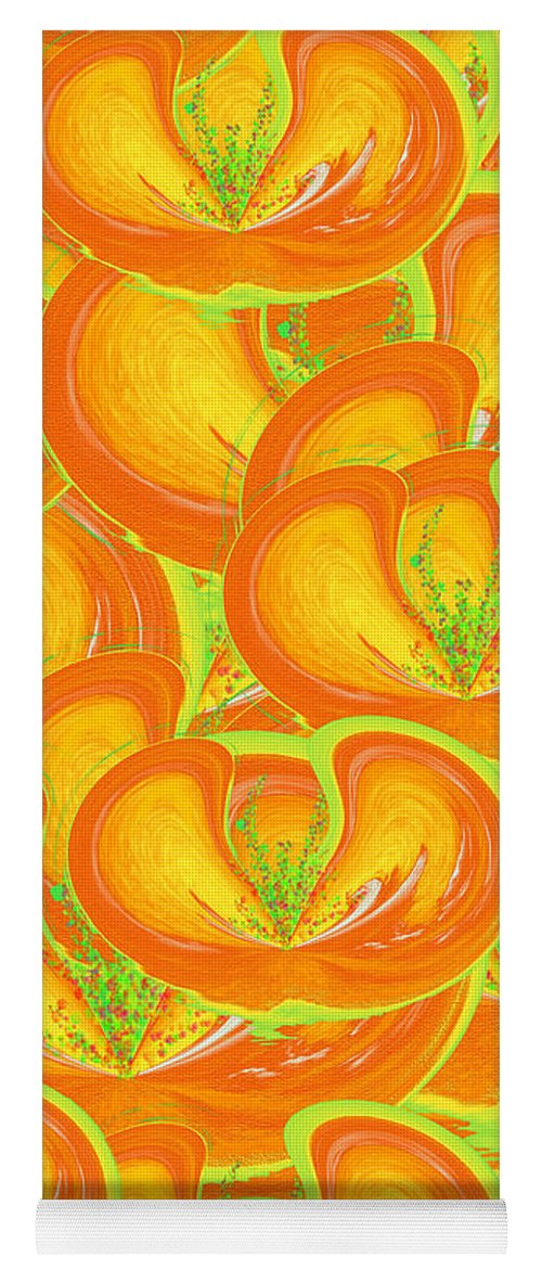 Juicy Fruit Yoga Mat featuring the painting Juicy Fruit by Methune Hively