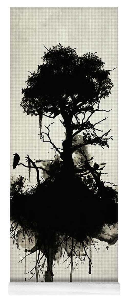Nature Yoga Mat featuring the painting Last Tree Standing by Nicklas Gustafsson