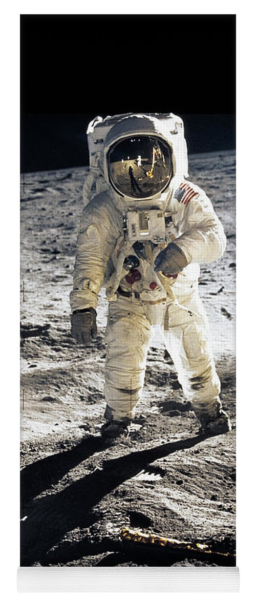 Apollo Yoga Mat featuring the photograph Astronaut by Photo Researchers