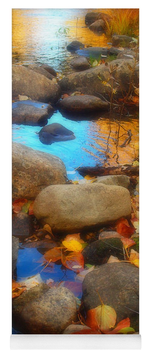 Autumn Yoga Mat featuring the photograph Autumn By The Creek by Tara Turner