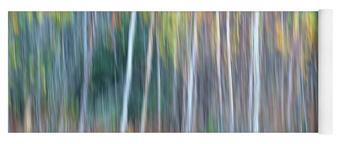 Forest Pastels Form An Autumn Impression Yoga Mat featuring the photograph Autumn Impression by Bill Morgenstern