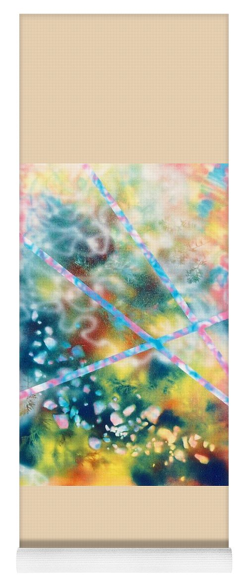 Abstract Yoga Mat featuring the painting Autumn by Micah Guenther