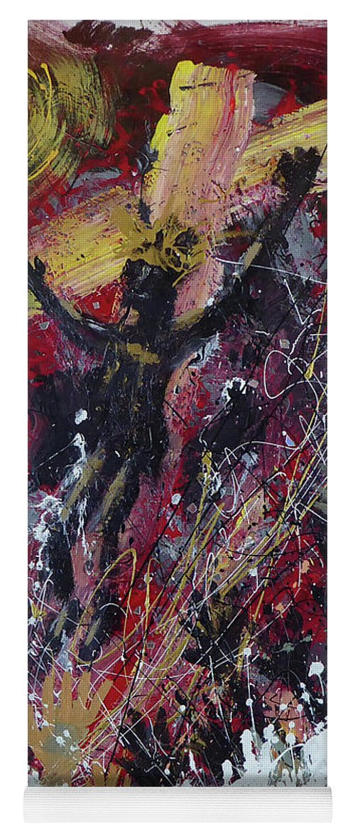 Christ Avatar Diety Yoga Mat featuring the painting Avatar by Jack Hanzer Susco