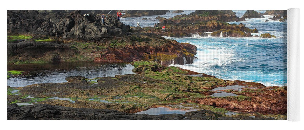 Atlantic Yoga Mat featuring the photograph Azores Seascape by Gaspar Avila