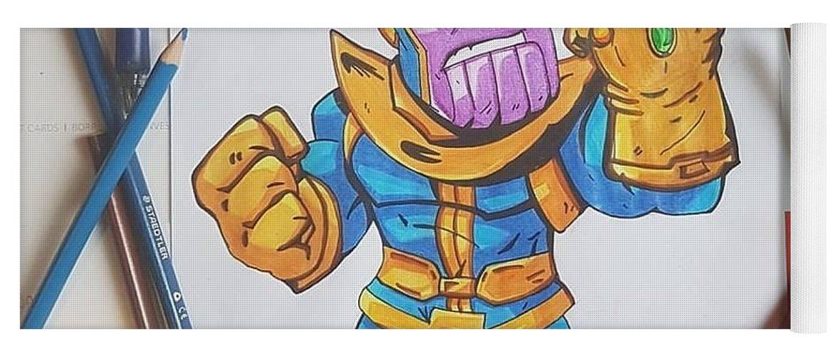 Baby Thanos Yoga Mat For Sale By Kayode Logo