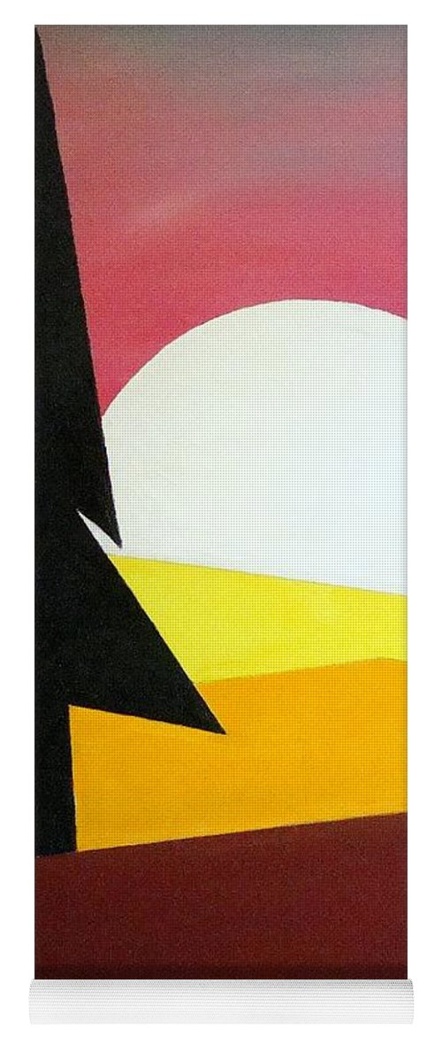 Impressionist Painting Yoga Mat featuring the painting Bad Moon Rising by J R Seymour