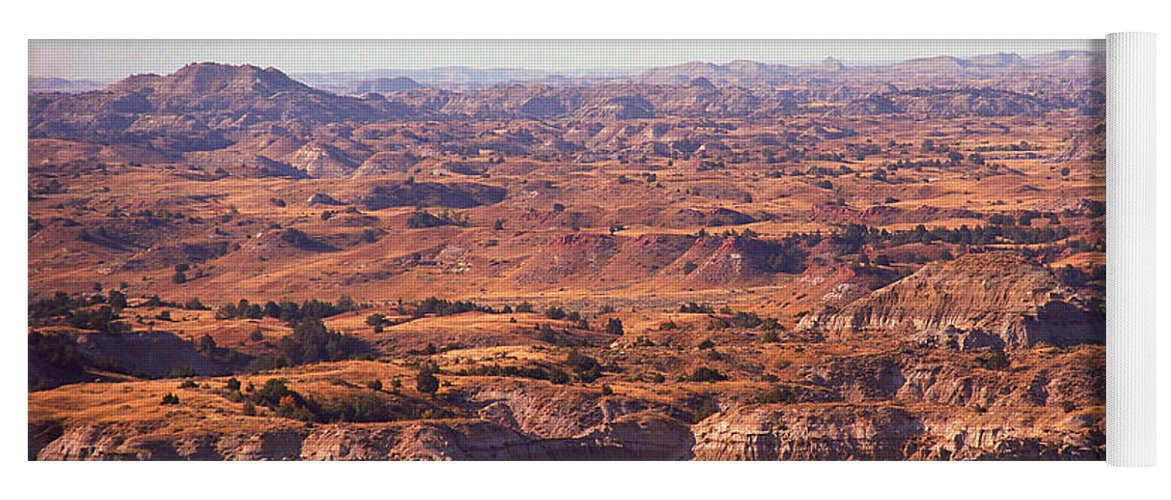 Art Yoga Mat featuring the photograph Badlands #3 by Frank Romeo