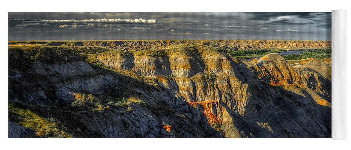 Badlands Yoga Mat featuring the photograph Badlands by Wayne Sherriff