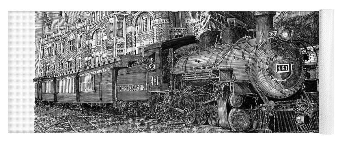 Baldwin 481 2 8 2 Narrow Gauge Steam Locomotive Yoga Mat