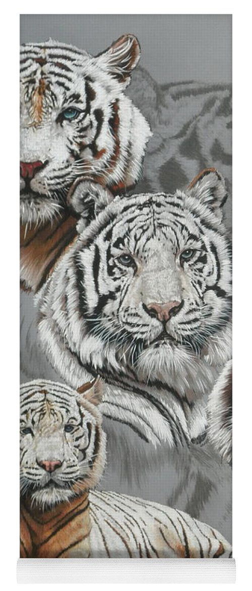 Tiger Yoga Mat featuring the mixed media Baron by Barbara Keith