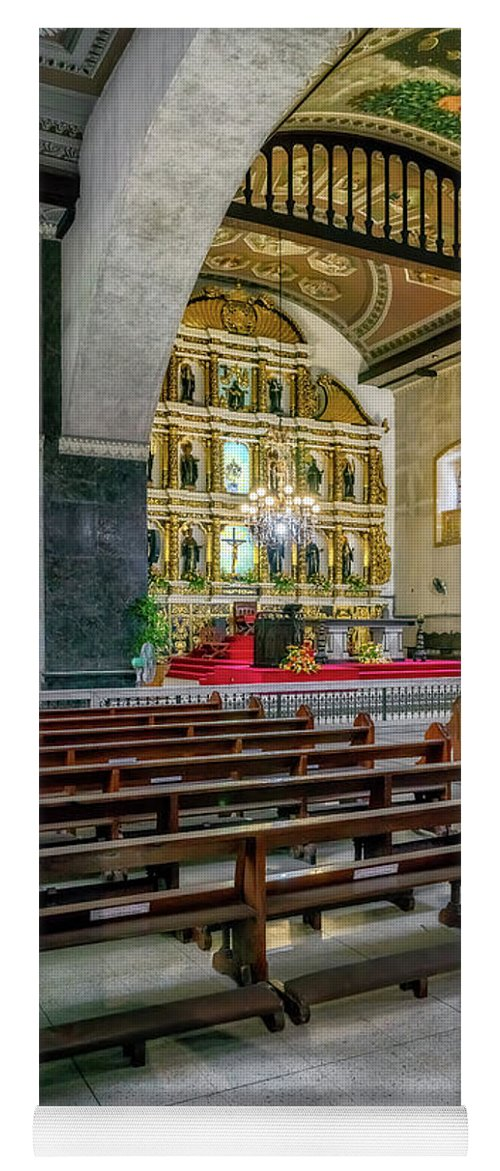 Catholic Yoga Mat featuring the photograph Basilica Minore Del Santo Nino by Adrian Evans