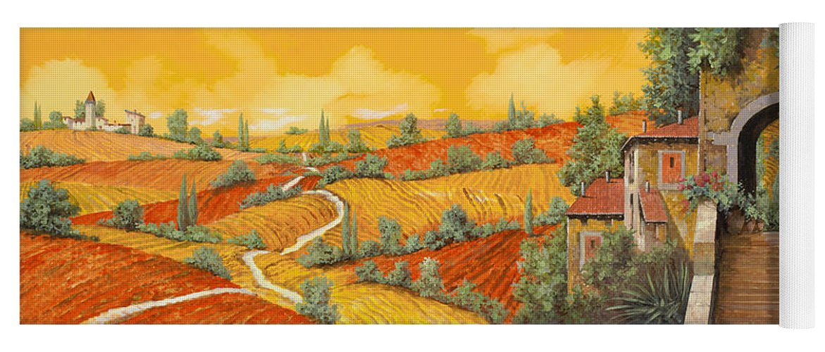 Tuscany Yoga Mat featuring the painting Bassa Toscana by Guido Borelli