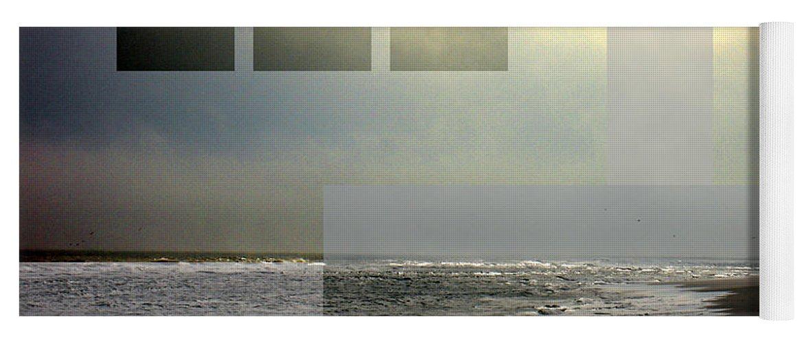 Beach Yoga Mat featuring the photograph Beach Collage 2 by Steve Karol