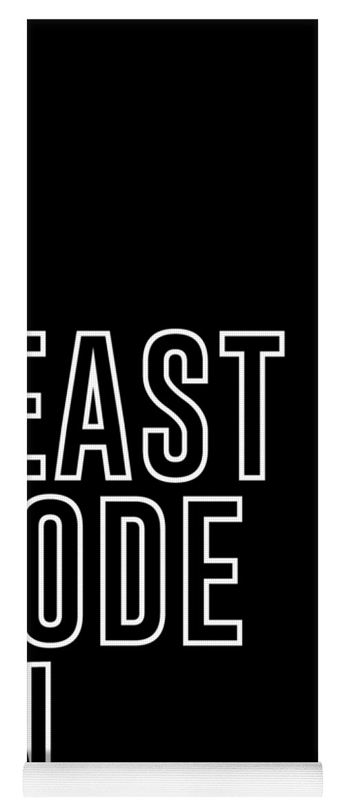 Beast Mode On - Gym Quotes - Minimalist Print - Typography - Quote Poster  Yoga Mat