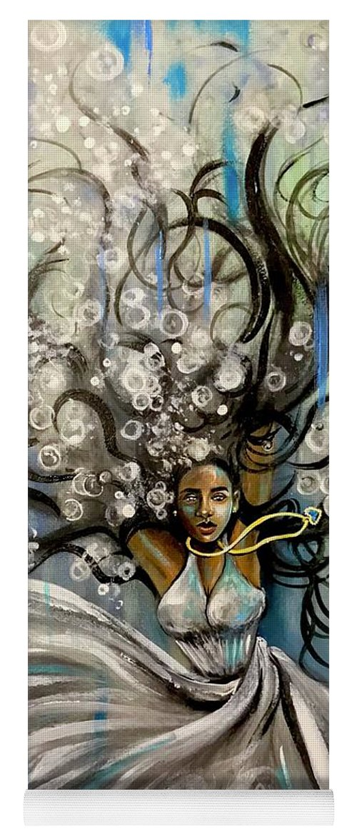 Artist_ria Yoga Mat featuring the painting Beautiful Struggle by Artist RiA