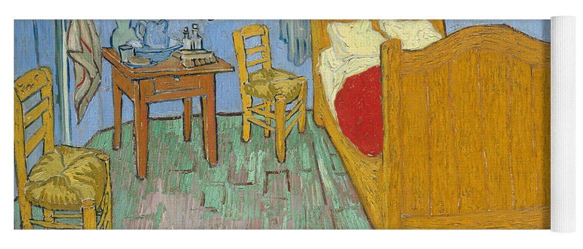 Bedroom At Arles Yoga Mat featuring the painting Bedroom At Arles by Van Gogh