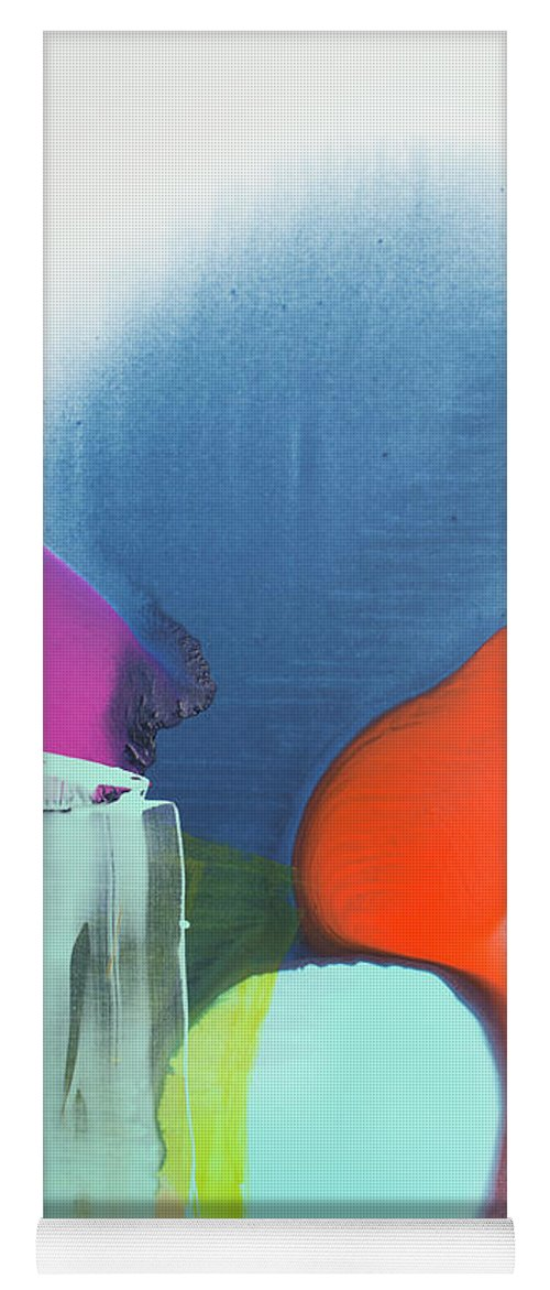 Abstract Yoga Mat featuring the painting Being Sincere by Claire Desjardins