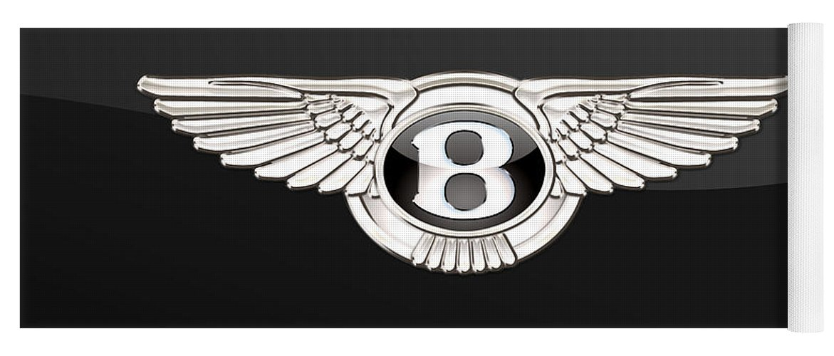 'wheels Of Fortune' By Serge Averbukh Yoga Mat featuring the photograph Bentley - 3 D Badge On Black by Serge Averbukh