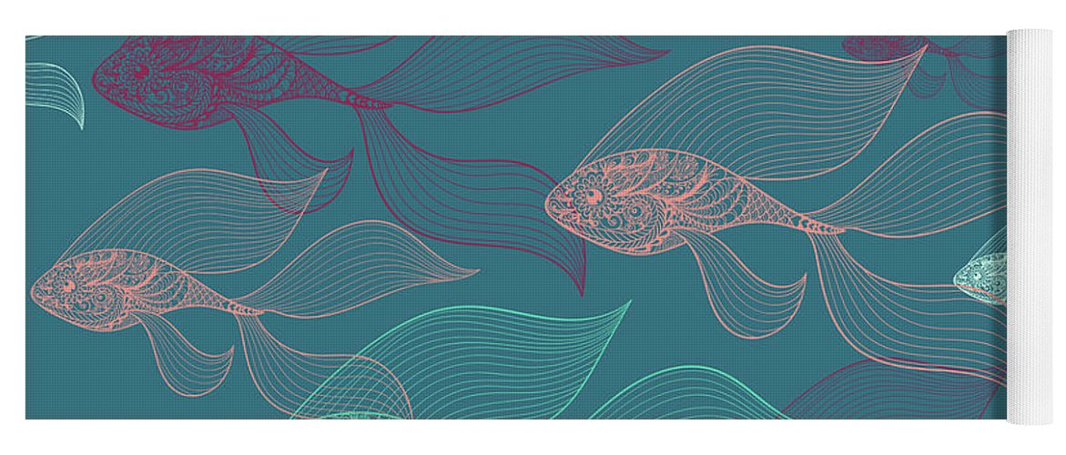 Dolphins Yoga Mat featuring the photograph Beta Fish by Mark Ashkenazi