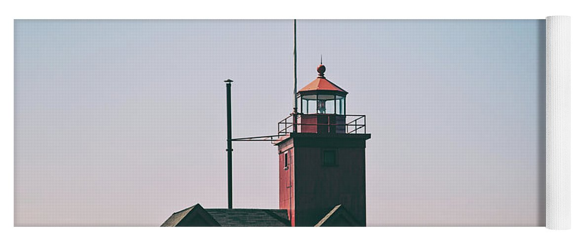 Lighthouse Yoga Mat featuring the photograph Big Red Lighthouse by Scott Pellegrin