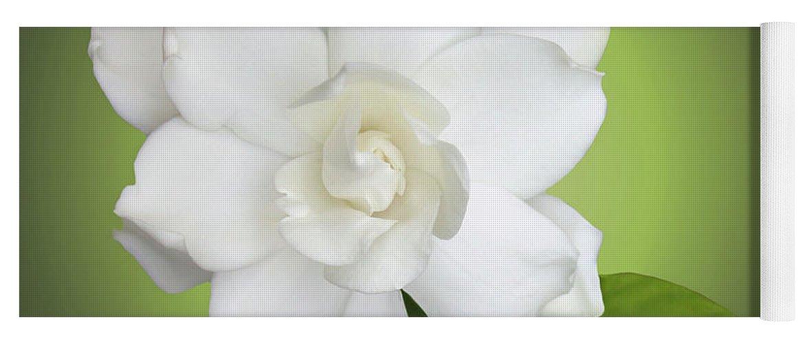 Gardenia Yoga Mat featuring the photograph Billie's Flower by Kristin Elmquist