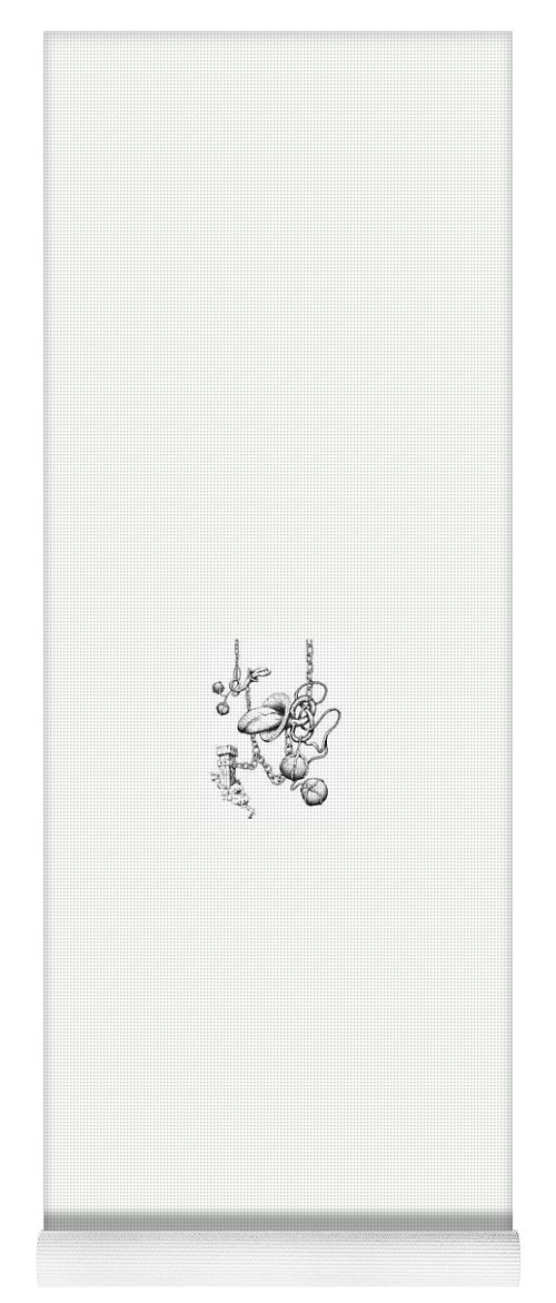 Relationahip Yoga Mat featuring the drawing Binding Relationship by Sam Sidders
